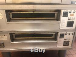 Middleby Marshall ps 570 2deck lincon impinger stacked gas pizza oven detroit