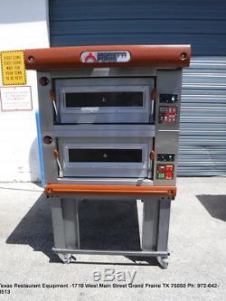 Moretti Forni Electric Double Deck Bread Pizza Oven P80C30P