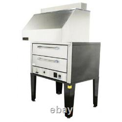 NAKS Double Deck Pizza Oven with Ventless Hood 50 3PH Fire Suppression Ready