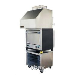 NAKS Single Deck Pizza Oven with Ventless Hood 30 1PH Fire Suppression Ready