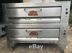 One Set Of Montague 25P Legend Gas Pizza Oven Double 60 x 36 Hearth Decks