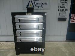 Peerless 2324P 41 Gas Pizza Deck Oven, 4 Deck, (8) 16 Pizza Capacity #5805