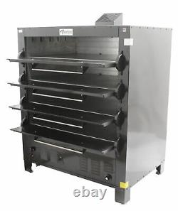 Peerless 2348M Eight Pan Four Deck Gas Mexican Bake Pizza Oven
