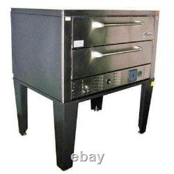 Peerless CE61BE Two 7 High Deck 1 Control Bake and Roast Electric Pizza Oven