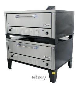 Peerless CW200P 2 Single Deck Super Size Floor Model Gas Pizza Oven