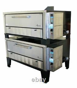 Peerless CW200PESC 2 Deck Electronic Super Size Floor Model Gas Pizza Oven