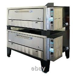 Peerless CW200PESC 66 Gas Pizza Deck Oven, Double Deck