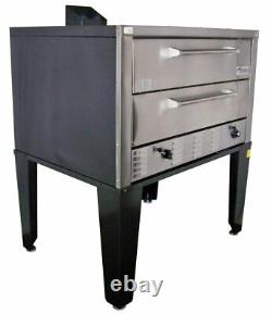 Peerless CW61B Two 7 High Deck 1 Control Bake and Roast Gas Pizza Oven