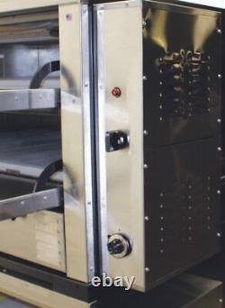 Peerless CW62PSC 2 Twin Deck Floor Model Gas Pizza Oven