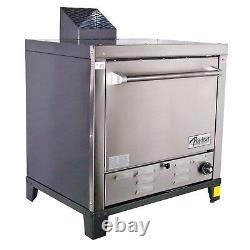 Peerless Ovens Counter Top Gas Pizza Oven with Four 24x19 Stone Hearth Decks