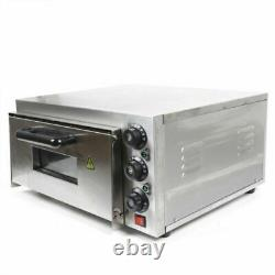 Pizza Oven 1 Deck Electric 2000W Stainless Steel Ceramic Commercial Oven USED