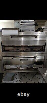 Pizza Oven double deck natural gas. Condition is Used Pick Up Only