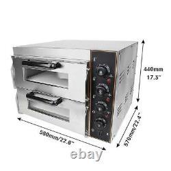 Portable Outdoor/Indoor Electric 3000W Pizza Oven Double Deck Bakery Restaurant