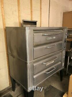 Price Drop! Blodgett 911 Natural Deck Gas Double Pizza Oven With Stones
