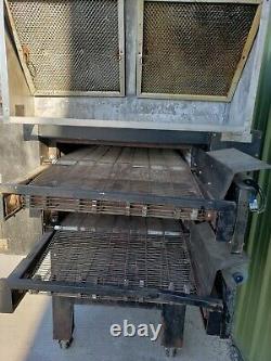 Pride Double Deck Conveyor Pizza Oven with hood