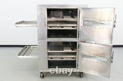 Reconditioned Lincoln 1000 32 Double Deck Gas Conveyor Pizza Oven 560697