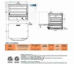 Sierra Range SRPO-24G Countertop Gas Pizza Oven with Ceramic Decks