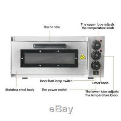 Single Deck Electric Commercial Pizza Oven With Timer For 1X16 Pizza CE 220V