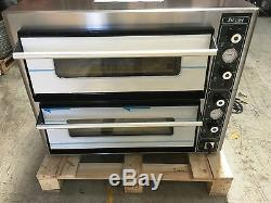 Super Pizza Electric Pizza Oven Double Deck Stone Baked 2 X 4 X 12 Pizza