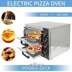 Two Pizza Ovens 2 X 16 Twin Deck Commercial Baking Oven Fire Stone Catering