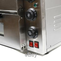 USD Electric 3kw Pizza Oven Double Deck Commercial Stainless Steel Pizza Toaster