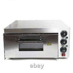 USED! Single Deck Stainless Steel Pizza Oven Electric Pizza Maker 2KW damaged US