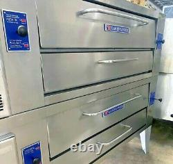 Used Bakers Pride Y-602 Double Pizza Deck Oven, Gas