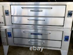 Used Bakers Pride Y600 Late Model double deck gas pizza oven