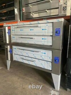 Used Bakers Pride Y602 Gas Double Deck Pizza oven
