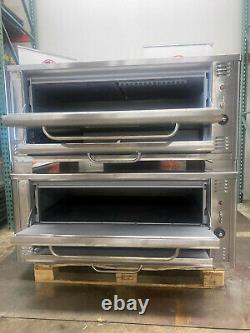 Used Blodgett 1048 Double Two Section Double Stacked Deck pizza Oven