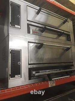 Used MARSAL SD 1048 / 448 double deck gas pizza oven