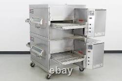 Used Middleby Marshall PS220 Double Deck Gas Conveyor Pizza Oven 563209