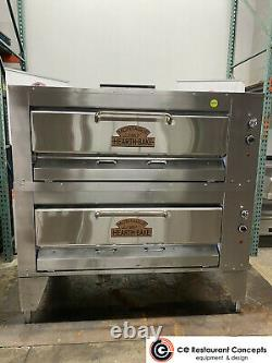Used Montague 24p double deck gas pizza oven