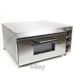 Used Stainless Steel Electric Pizza Ovens Single Layer/Deck 2000W Sliver 60Hz US