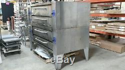 Used Y-600 Bakers Pride Double Deck Pizza Ovens, Natural Gas