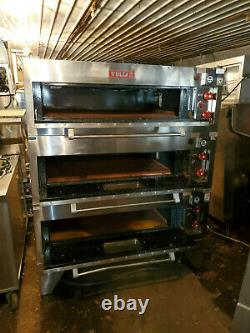 Vulcan Electric Stainless 3 Deck Pizza Oven Triple Stack Commercial 57 Wide