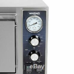 Waring Commercial WPO750 Double Deck Pizza Oven with Dual Door, Stainless Steel