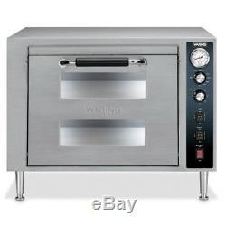 Waring WPO750 Double Deck Countertop Pizza Oven, Two Doors